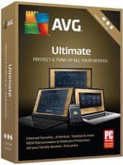 Antivirová ochrana AVG Ultimate-s platností podpory na 1 rok ( obsahuje Internet Security Unlimited a TuneUp Unlimited ) - BOX