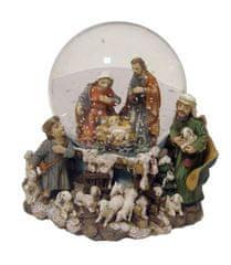 DUE ESSE Karácsonyi jelenetet ábrázoló hógömb, 11 x 11 cm
