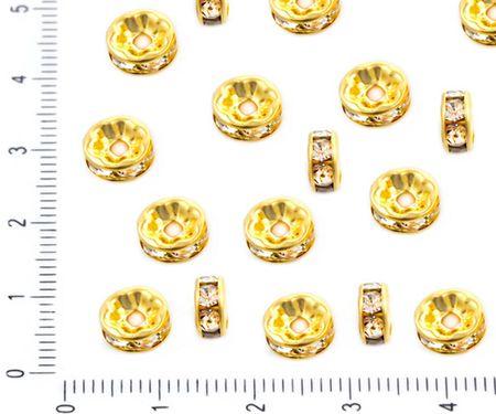 Kraftika 30 szt złoto kryształ rhinestone i cz mikro utorować