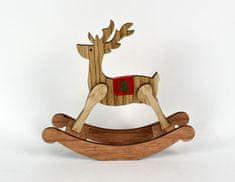 DUE ESSE drewniany renifer na biegunach, 17,5 cm
