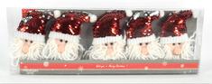 DUE ESSE komplet obeskov, bleščeči Božički, 5 kosov