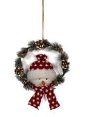 DUE ESSE božićni vijenac sa snjegovićem, Ø 25 cm
