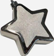 DUE ESSE komplet 10 božičnih okraskov – zvezda, temno zlate, Ø 7 cm