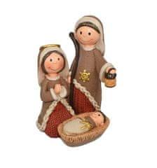 DUE ESSE dekoracja świąteczna - święta rodzina, 13 cm