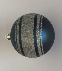 DUE ESSE 6 db kék karácsonyi gömb készlet, Ø 10 cm