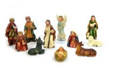 DUE ESSE Zestaw 11 mini figurek do szopki, 3,5 cm