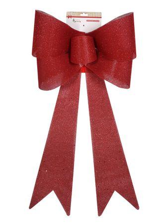 DUE ESSE Bożonarodzeniowa kokarda - czerwona, 55 cm