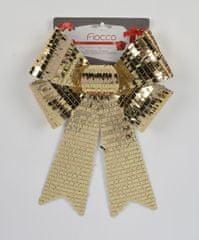 DUE ESSE świąteczna dekoracja złota kokarda, 35 cm