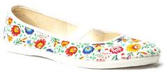 Toga papuče za djevojčice, cvjetni uzorak