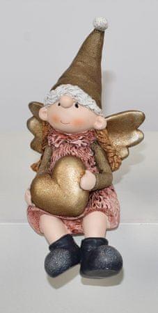 DUE ESSE aniołek z sercem 15 cm