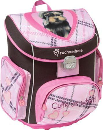 Rachael Hale šolska torba, ABC, črna/roza