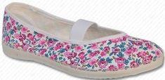 Toga papuče za djevojčice, cvjetne, roza
