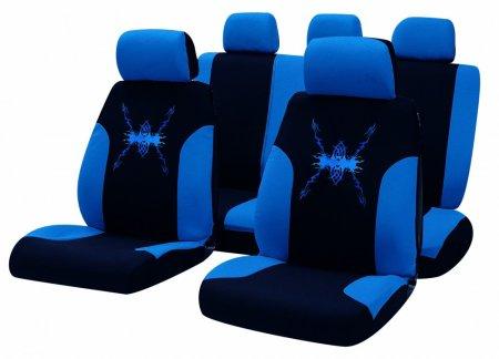 Masterplast komplet sedežnih prevlek Bottari Tribal, črno-modre