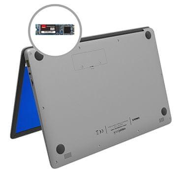Notebook VisionBook 14Wa Gray (UMM230140) 14,1 palce SSD rozšíření úložiště