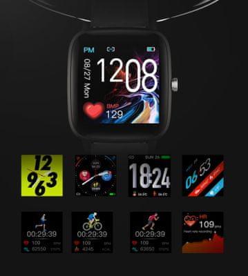 Dámske chytré hodinky Carneo Soniq+ woman, sledovanie tepu, meranie teploty, kalórií, vzdialeností, krokov, spánku, zóny srdcovej činnosti, tep, krvný tlak