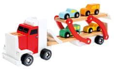 Bino ciężarówka z samochodami