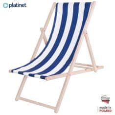 Platinet PSW drvena ležaljka, prugasta, plavo-bijela