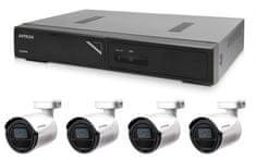 Avtech Kamerový set 1x NVR AVH1104 a 4x 2Mpx IP Bullet kamera DGM2103SV + 4x Kábel UTP 1x RJ45 - 1x RJ45 Cat5e 15m!