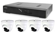 Avtech Kamerový set 1x NVR AVH1104 a 4x 2Mpx Motorzoom IP Dome kamera DGM2443SVSE + 4x Kábel UTP 1x RJ45 - 1x RJ45 Cat5e 15m!