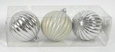 DUE ESSE 3 db-os Karácsonyfa gömb szett, ezüst színű, Ø 8 cm 2