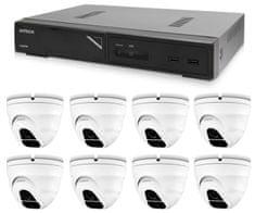 Avtech Kamera készlet 1x NVR AVH1109és 8x 2MPX IP Dome kamera DGM2203SVSE + 8x Kábel UTP 1x RJ45 - 1x RJ45 Cat5e 15m