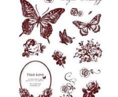 SMT Creatoys Motýlci a květiny - silikonová gelová razítka (16ks)