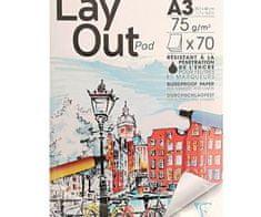Clairefontaine Papír na kreslení fixy a popisovači bílý (75g/m2
