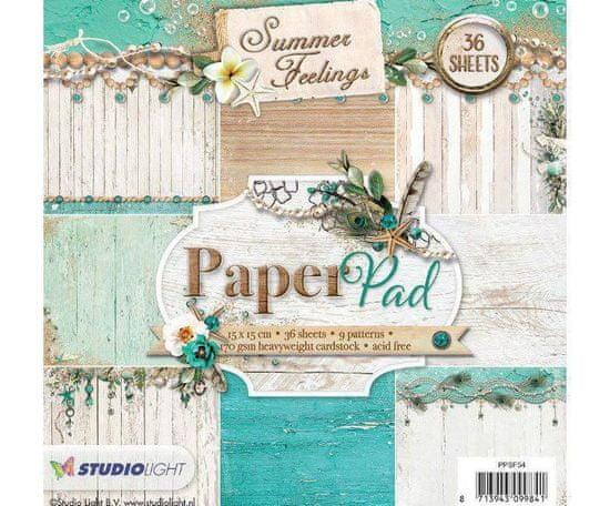 Kraftika Sada papírů 15x15cm (36ks) č.54 summer feelings