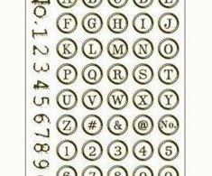 SMT Creatoys Abeceda a číslice v kroužku - silikonová gelová razítka