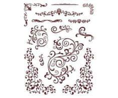 SMT Creatoys Bordury a ornamenty - silikonová gelová razítka (13ks)