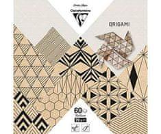 Clairefontaine Papíry na origami 15x15cm (60ks) mix motivů kraft