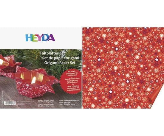 Kraftika 20 ks origami 15x15 a 10 ks13x13 80g červená