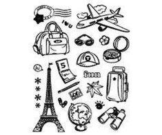 SMT Creatoys Cestování paříž - silikonová gelová razítka (21ks)