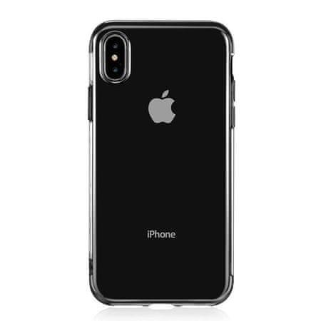 Elegance ovitek za Apple iPhone 11 Pro, silikonski, ultra tanek, prozoren s črnim robom