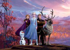 AG design Fototapeta Postavičky Frozen II na náhorní plošině 252 x 182 cm 4 ks