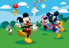 AG design Fototapeta Mickey Mouse si hraje s přáteli 360 x 254 cm 4 ks