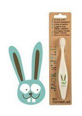 Jack N´ Jill Dětský zubní kartáček Zajíček - z kukuřičného škrobu