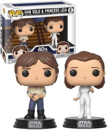 Funko POP! Star Wars figurici, Han Solo & Princess Leia, 2 kosa