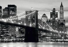 AG design fototapeta crno-bijeli Brooklynski most na zalasku sunca, 360 x 254 cm