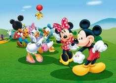 AG design fototapeta Mickey Mouse pleše s prijateljima, 160 x 110 cm, 4 komada