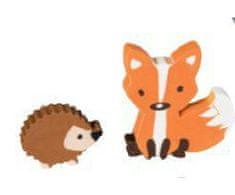 Brunnen 2 ks guma lesní zvířátka - zimní balení
