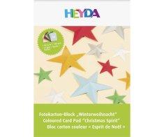 Kraftika Blok barevných kartonů 10 listů a4 300g vánoce