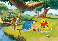 AG design fototapeta Medvjedić Pooh u akvarelu, 160 x 110 cm