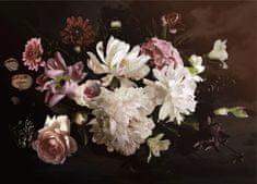 AG design Fototapeta Kompozycja kwiatów na ciemnym tle 160 x 110 cm