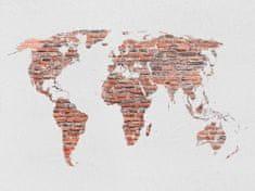 AG design Fototapeta Mapa retro w kolorze cegły 160 x 110 cm