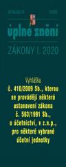 Aktualizace I/6 2020 Vyhláška č. 410/2009 Sb - Zmírnění dopadu pandemie nemoci COVID-19 na ekonomiku České republiky