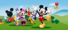 AG design Fototapeta Veselý Micky Mouse s přáteli 202 x 90 cm