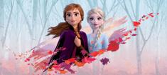 AG design fototapeta Elza i Anna w jesiennym wietrze, 202 x 90 cm