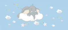 AG design fototapeta Dumbo w chmurach, 202 x 90 cm