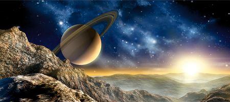 AG design Neptunova slika planeta, fototapeta, 202 x 90 cm